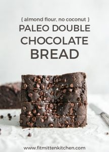 paleo chocolate bread pin