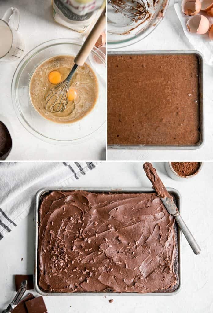 how to make quarter sheet pan sheet cake