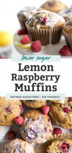 lemon raspberry muffins pin
