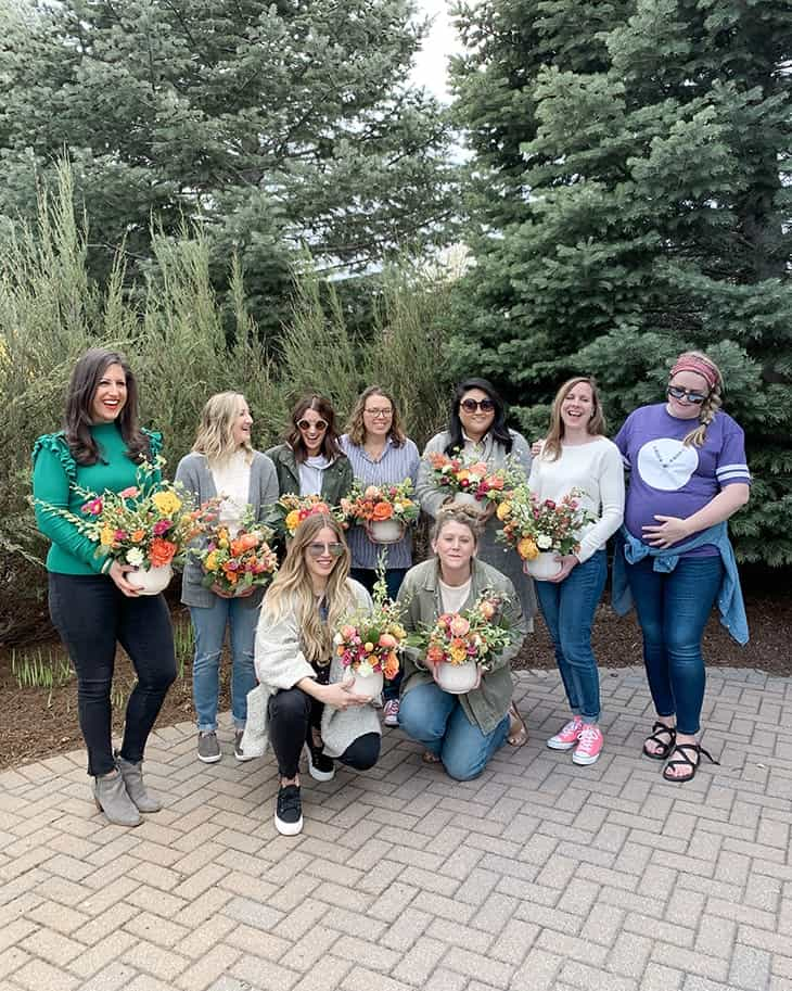 sweetwater floral workshop at leland lodge