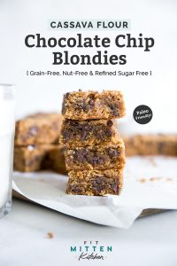 paleo chocolate chip blondies pin