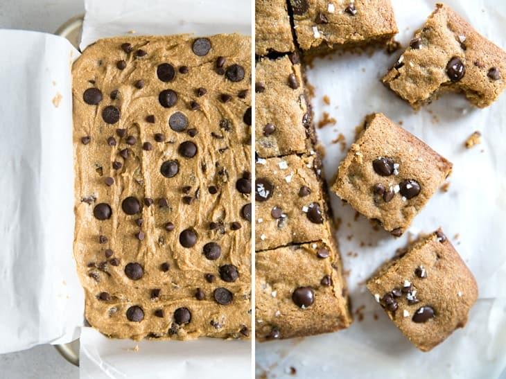 how to make paleo blondies with chocolate chips