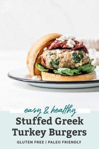 stuffed greek turkey burger pin