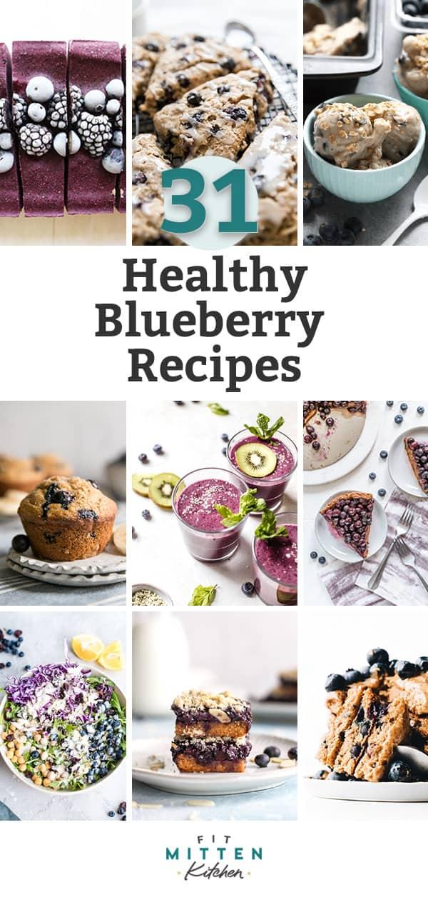 healthy blueberry recipes pinterest