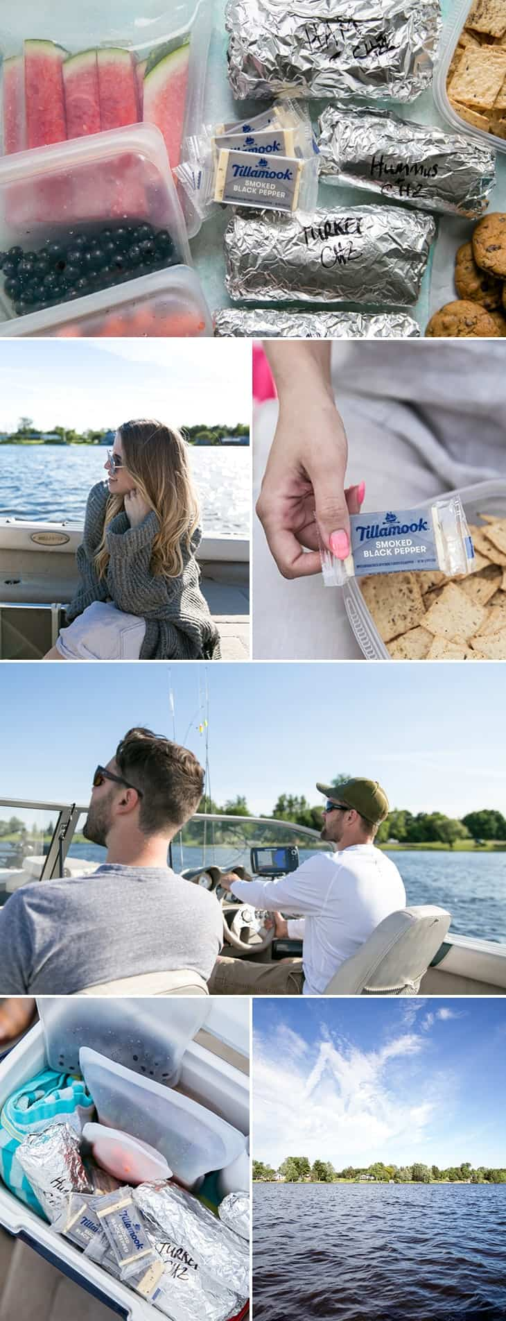 how to pack a healthy lake lunch for day trip