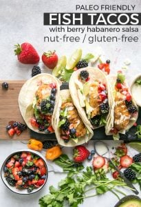 fish tacos with berry salsa pinterest