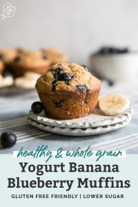 yogurt banana blueberry muffins pinterest