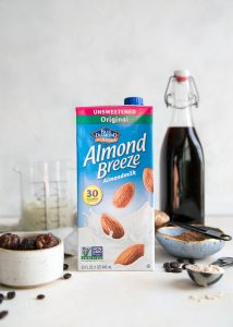almond breeze almondmilk shelf stable with cold brew smoothie ingredients