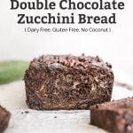 chocolate zucchini bread with zucchini