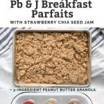 long pin of how to make PB & J Breakfast Parfaits