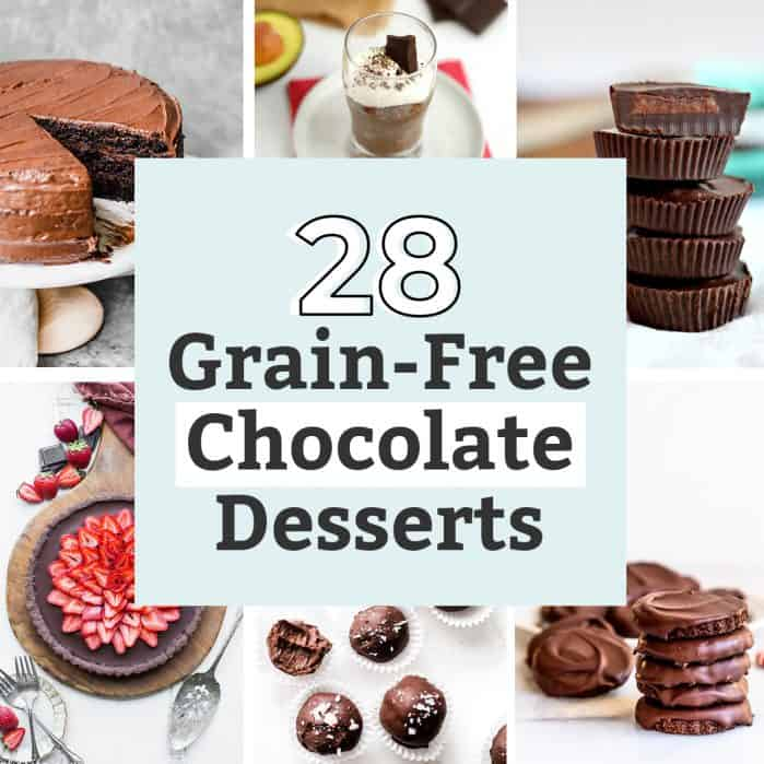 28 Delicious Grain-Free Chocolate Desserts
