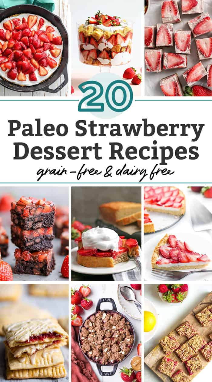strawberry dessert recipes pin