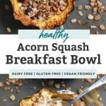 acorn squash breakfast bowls pinterest