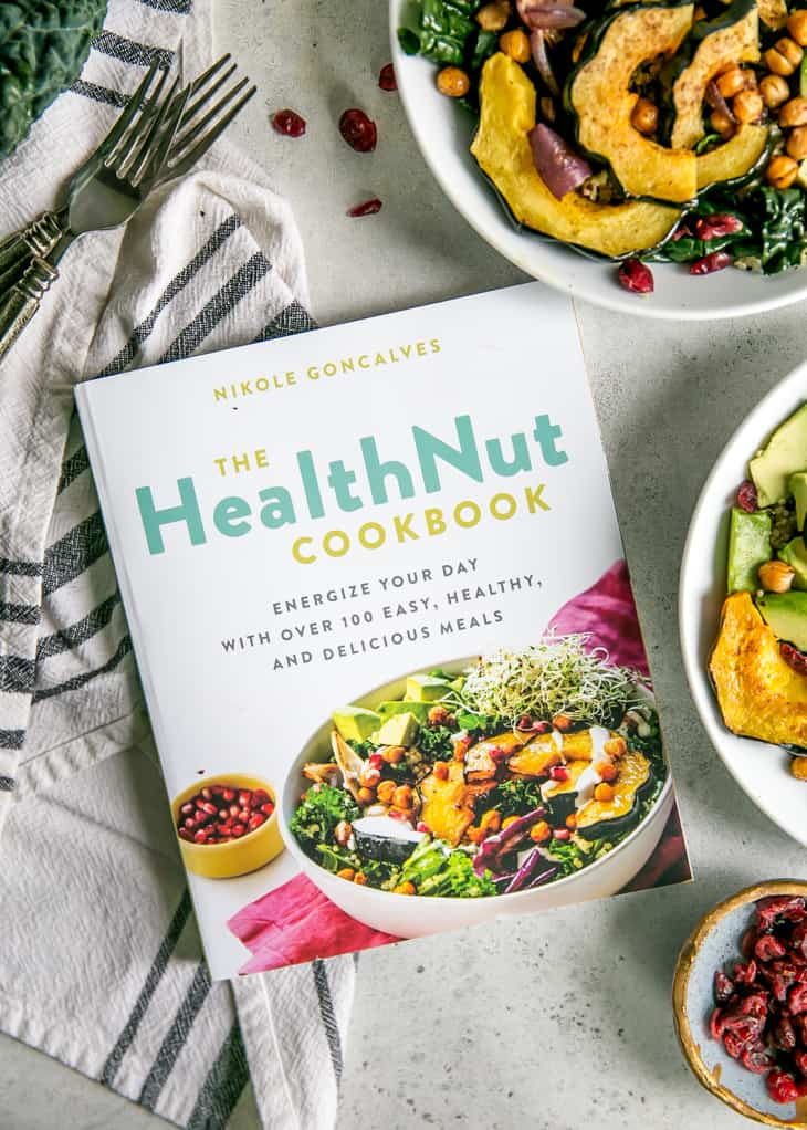 HealthNut Cookbook with nourish bowls