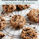 banana coconut chocolate chip cookies pin