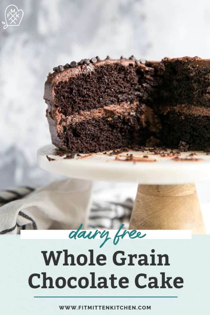 dairy free whole grain chocolate layer cake