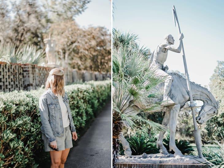 statue at brookgreen gardens in myrtle beach