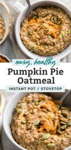 pumpkin oatmeal pinterest