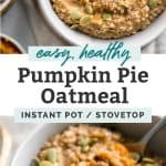 pumpkin oatmeal pinterest