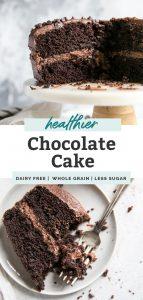 healthier chocolate cake pinterest