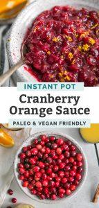 instant pot cranberry orange sauce pinterest graphic