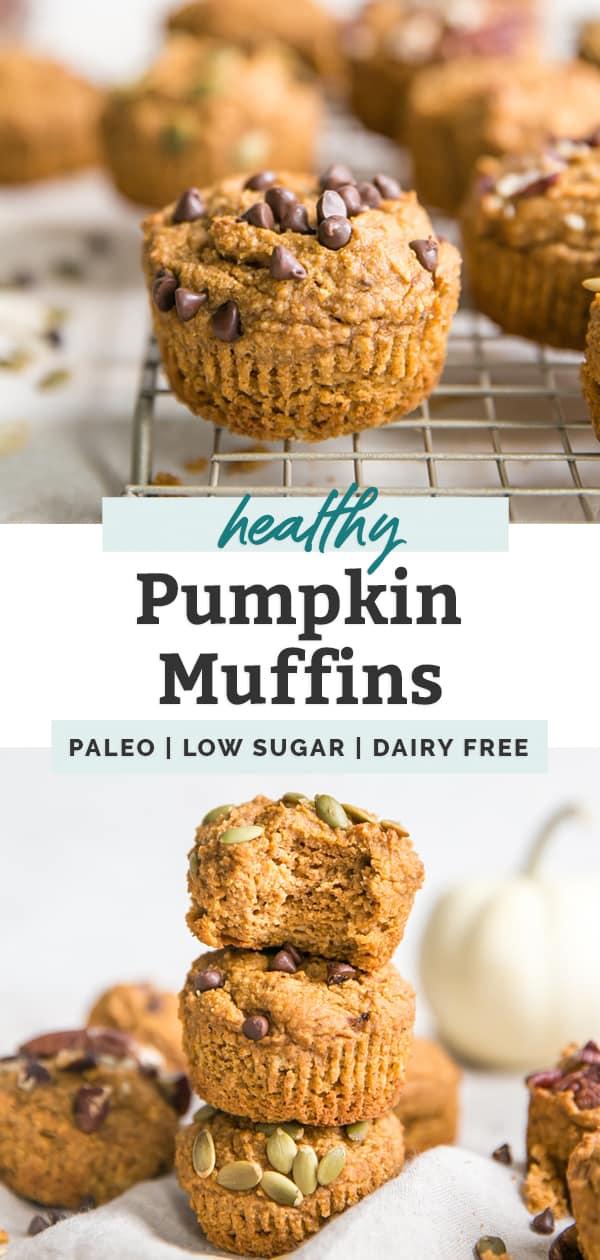 healthy pumpkin muffins pin image