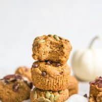 stacked almond flour muffins