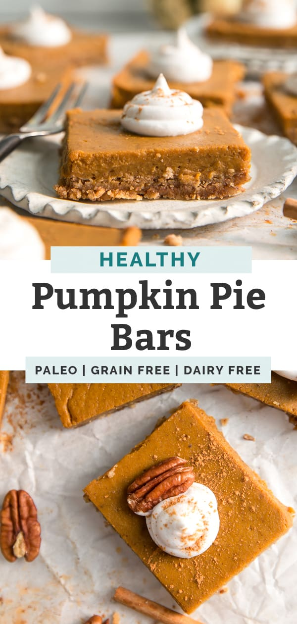 pumpkin pie bars paleo grain free dairy free pinterest