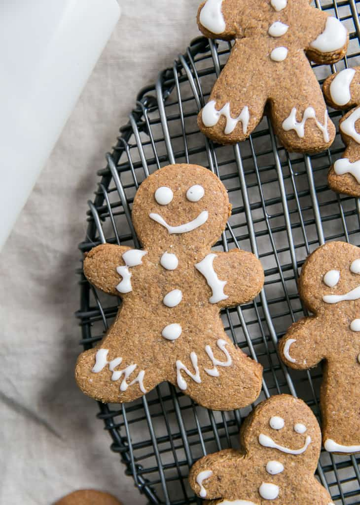 gingerbread cookie on cooling rack
