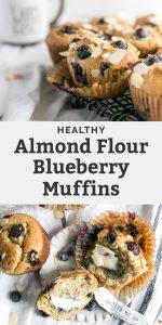 healthy almond flour blueberry muffins