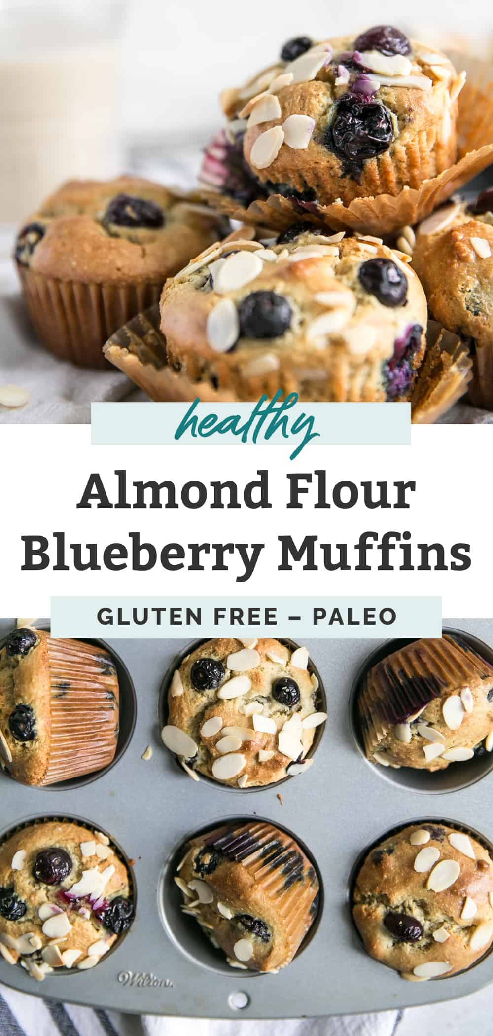 almond flour blueberry muffins