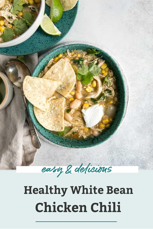 Easy White Chicken Chili Recipe Healthy Fit Mitten Kitchen