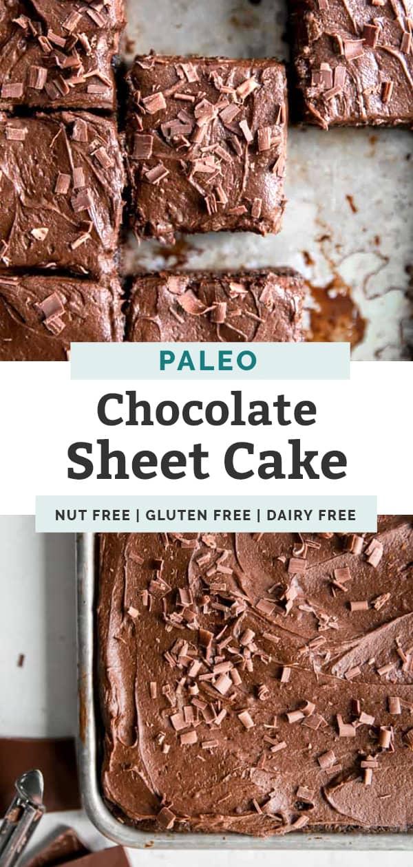paleo chocolate sheet cake pinterest
