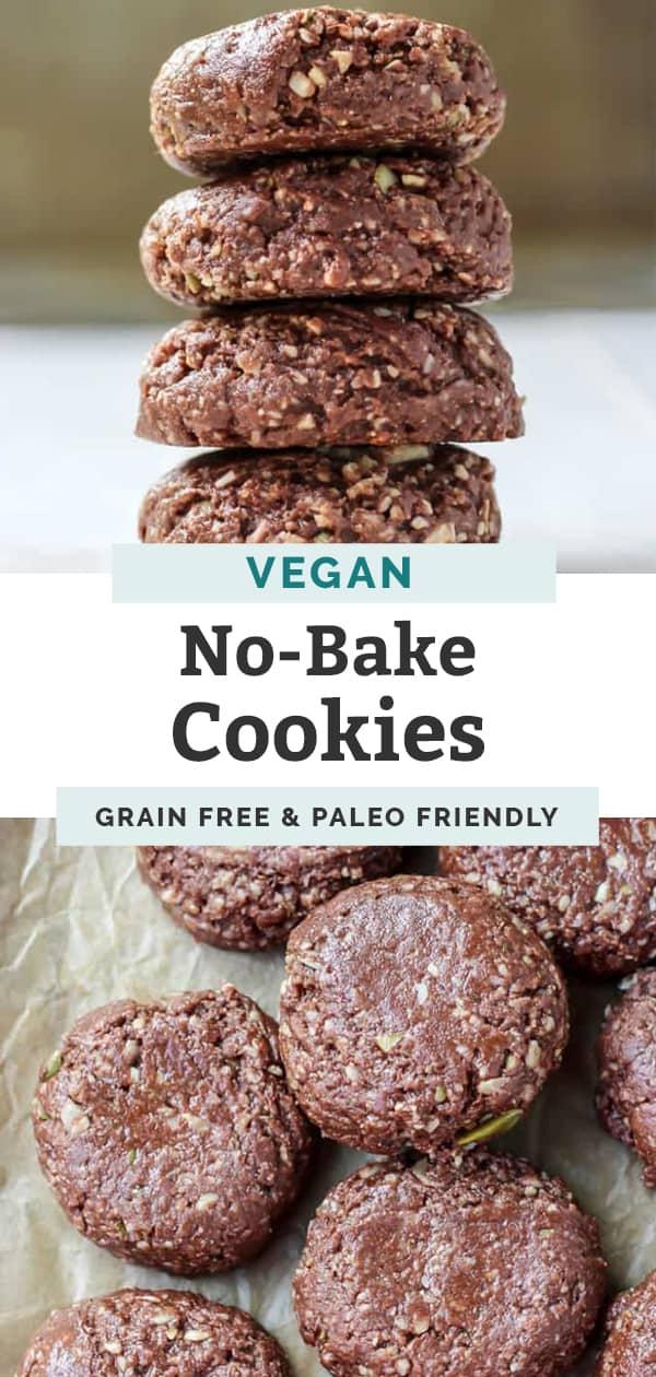 vegan grain free no bake cookies pinterest