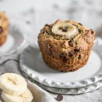 almond flour chocolate chip banana muffins