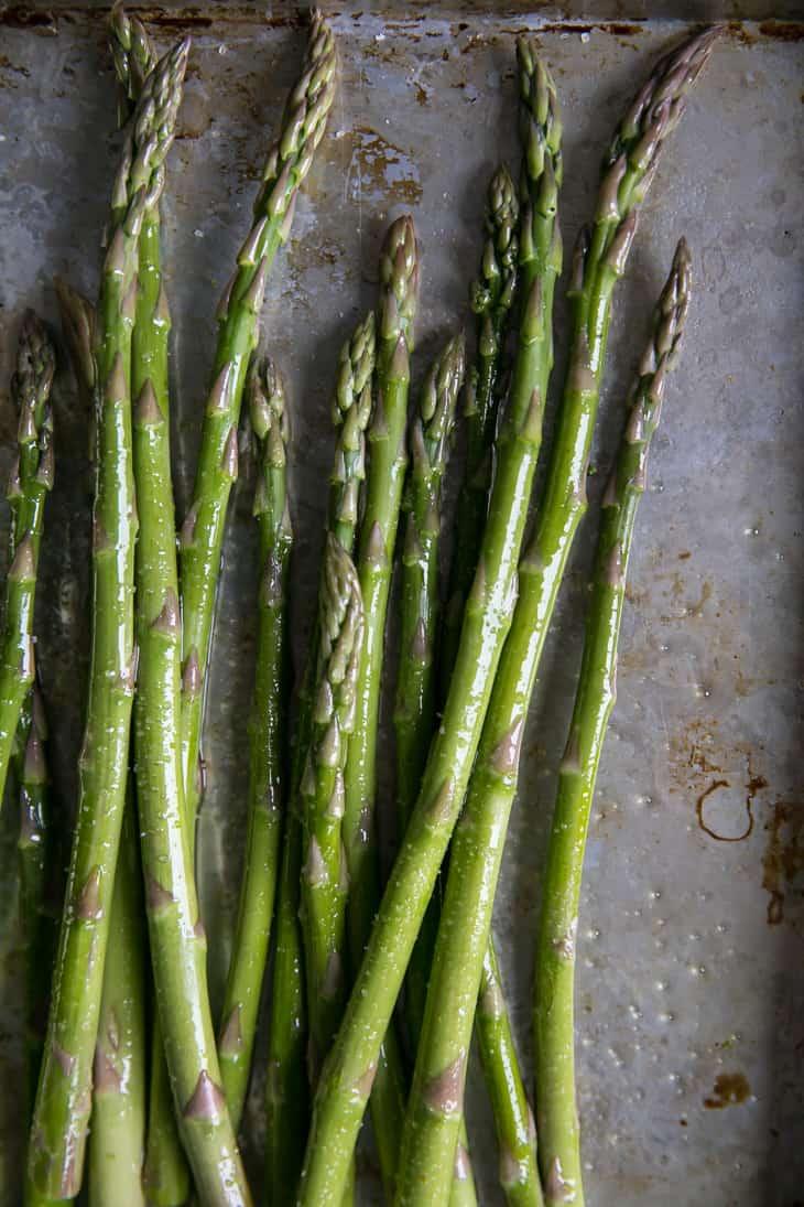 asparagus on sheet pan