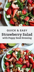 quick & easy strawberry salad pinterest graphic