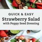 quick & easy strawberry salad pinterest graphic