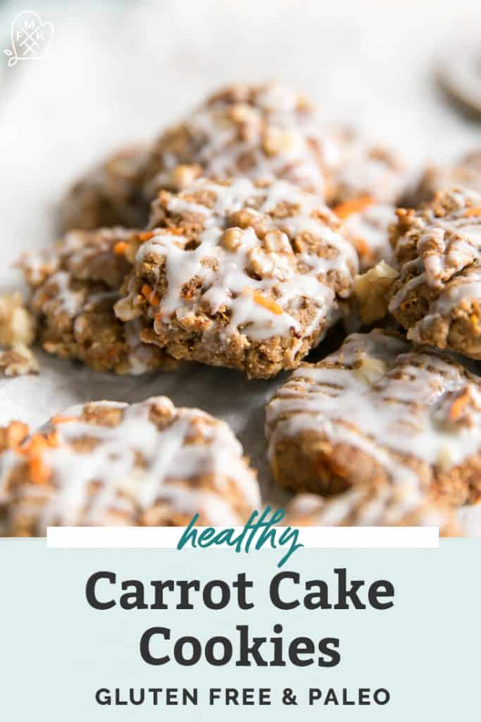stack of paleo carrot cake breakfast cookies with protein pinterest