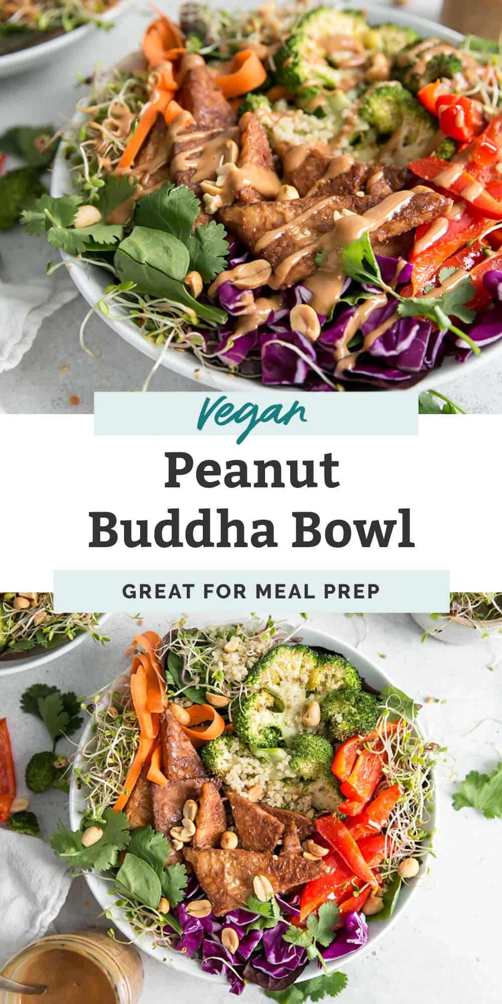 vegan peanut buddha bowl pinterest