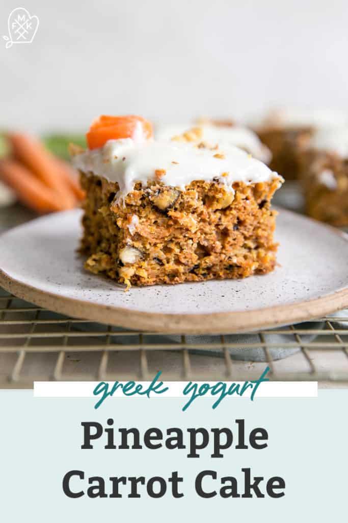 greek yogurt pineapple carrot cake