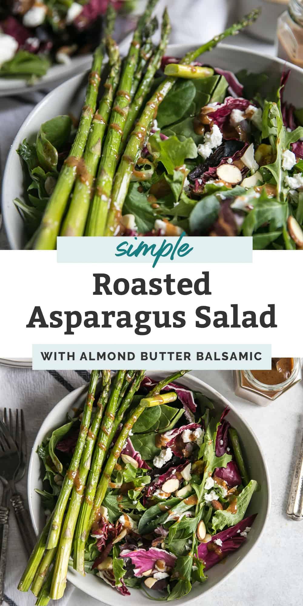 roasted asparagus salad pin