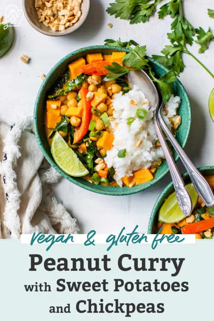 peanut curry with sweet potatoes and chickpeas pinterest