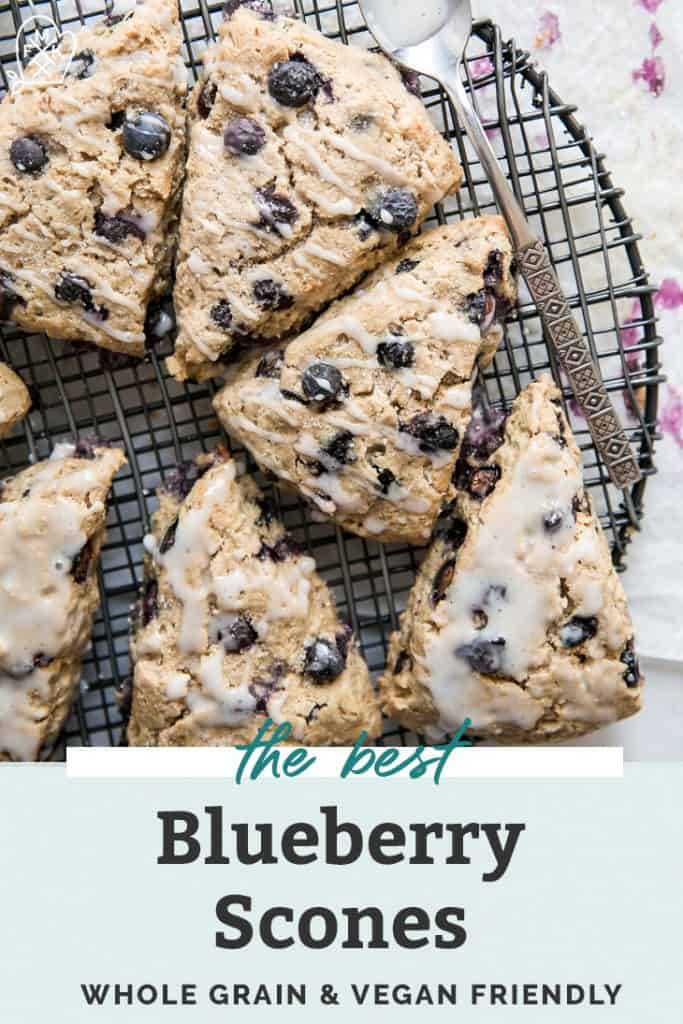 the best whole grain vegan blueberry scones pinterest