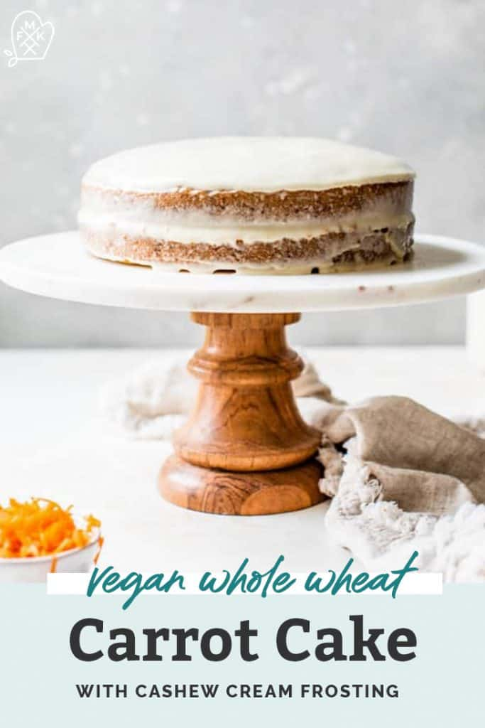 vegan carrot cake on stand pinterest