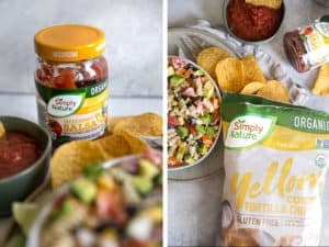 Simply Nature Salsa and Yellow Corn Tortilla Chips