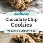 oatmeal chocolate chip cookies vegan and gluten free