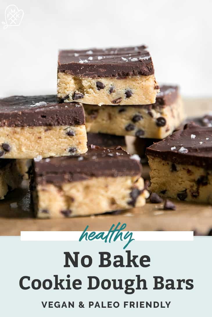healthy no bake cookie dough bars pinterest