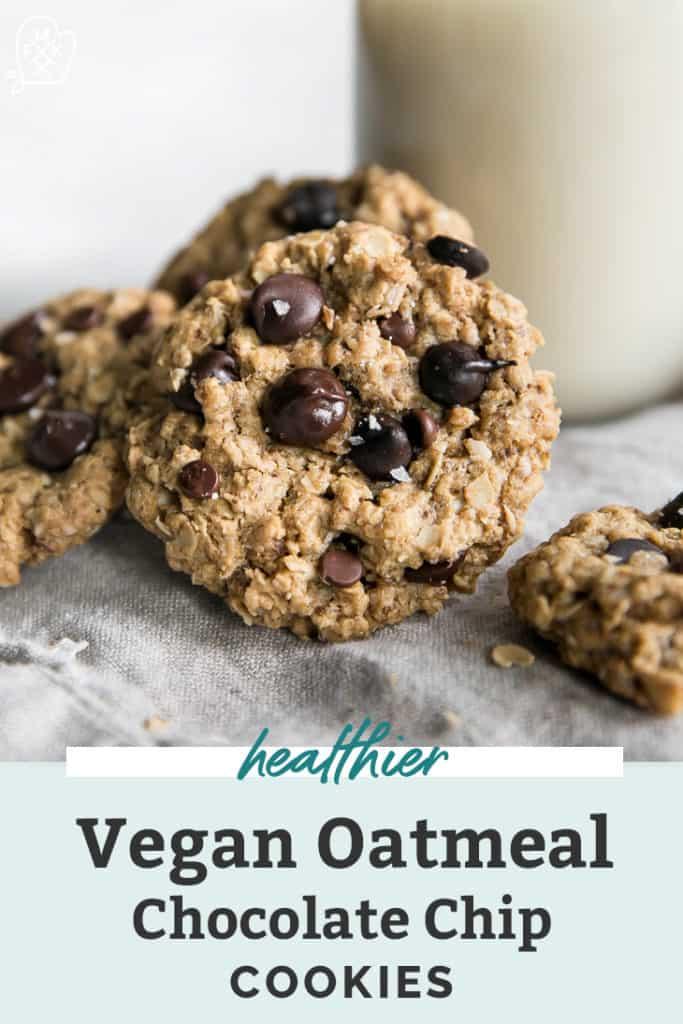 vegan oatmeal chocolate chip cookies pinterest