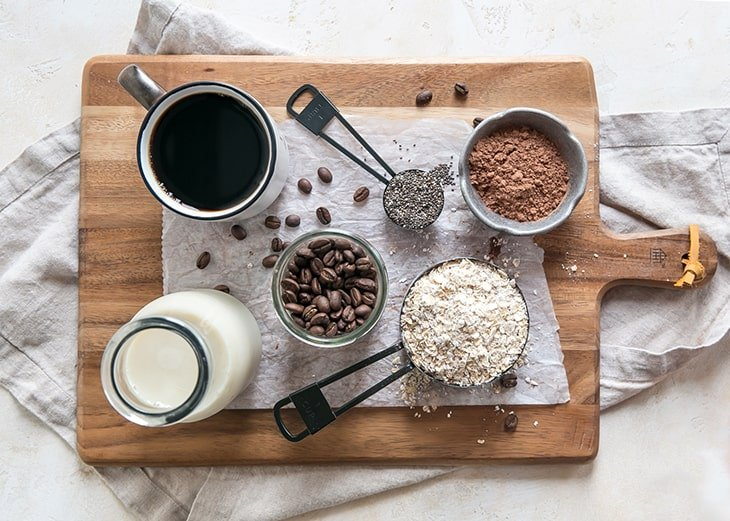 ingredients on a wood cutting board
